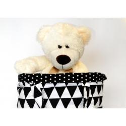Kosz na zabawki Czarno-Białe